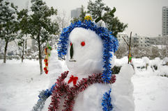 Um boneco de neve Foto de Stock