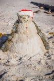 Um boneco de neve decorativo bem feito ao longo da costa de Brandeton, Florida imagens de stock royalty free