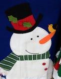 Um boneco de neve do feriado de inverno Fotos de Stock Royalty Free