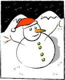 Um boneco de neve gelado Foto de Stock Royalty Free