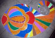 Um bonito muitos colore o rangoli como tão bom Imagem de Stock Royalty Free