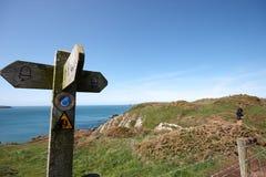 Um borne de sinal litoral Foto de Stock Royalty Free