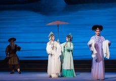 """Um  branco de ajuda de Opera""""Madame Snake†da mão-Kunqu Fotografia de Stock Royalty Free"""