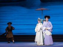 """Um  branco de ajuda de Opera""""Madame Snake†da mão-Kunqu Foto de Stock"""