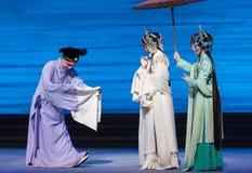 """Um  branco de ajuda de Opera""""Madame Snake†da mão-Kunqu Foto de Stock Royalty Free"""