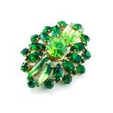 Um brooch verde isolou-se Imagens de Stock Royalty Free