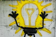 Um bulbo pintado Imagens de Stock
