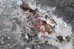 Um burning da fogueira fotos de stock royalty free