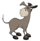 Um burro pequeno cartoon Imagem de Stock