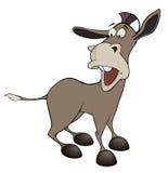 Um burro pequeno cartoon Fotos de Stock