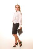 Um business-woman novo Imagem de Stock Royalty Free