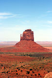 Um butte no vale Utá/Arizona do monumento Fotos de Stock