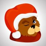 Um cão em um terno do ` s do ano novo ilustração stock