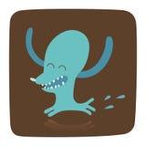 Um cão no fundo marrom Imagem de Stock Royalty Free