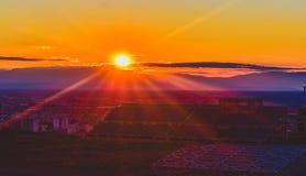 Um céu completamente do sol fotografia de stock
