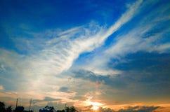 Um céu nebuloso azul Foto de Stock Royalty Free