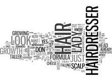 Um cabeleireiro mau Day Word Cloud ilustração royalty free