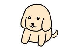 Um cachorrinho bonito feliz e da lealdade ilustração stock