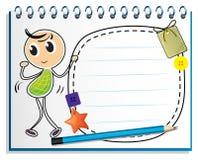Um caderno com uma dança da criança na capa Imagem de Stock Royalty Free