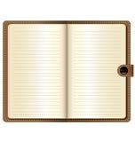 Um caderno de couro Foto de Stock