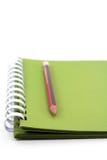 Um caderno espiral. imagens de stock royalty free