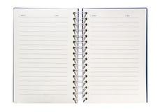 Um caderno espiral Imagem de Stock