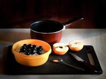 Um café da manhã saudável da farinha de aveia Fotografia de Stock Royalty Free