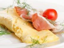 Um café da manhã saudável. Omelett. Fotografia de Stock Royalty Free