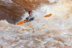 Um caiaque no rio de Wa Imagem de Stock