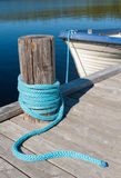 Um cais do lago Fotografia de Stock