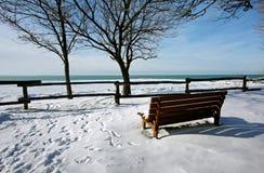 Um cais snow-covered Imagens de Stock Royalty Free