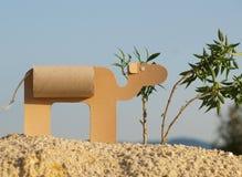 Um camelo de papel Fotos de Stock