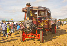 Um camião raro do vapor de Foden na mostra em Roseisle. Fotografia de Stock Royalty Free