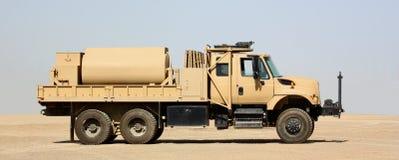 Um caminhão de combustível imagem de stock