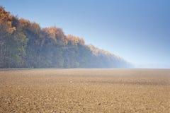 Um campo arado Fotografia de Stock Royalty Free