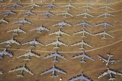 Um campo B-52 dos aviões, Davis Montham Air Force Base, Tucson, o Arizona Fotos de Stock