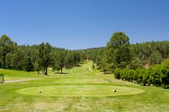 Um campo de golfe do Arizona em um dia de verão fotografia de stock royalty free