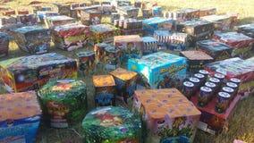 Um campo dos fogos-de-artifício que esperam imagem de stock royalty free