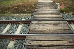 um campo railway da passagem de nível, com barreiras fotografia de stock royalty free