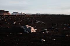 Um campo rochoso do vulcão em Islândia Fotos de Stock