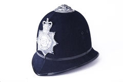Um capacete britânico de oficial de polícia Fotografia de Stock