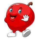 Um caráter feliz da maçã dos desenhos animados ilustração royalty free
