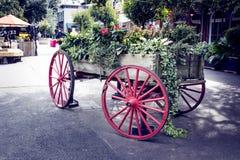 Um carrinho histórico do cavalo Imagens de Stock Royalty Free