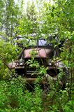 Um carro abandonado Foto de Stock