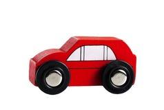 Um carro de madeira do jipe do simplle pequeno Fotografia de Stock Royalty Free