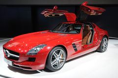 Um carro de Mercedes-Benz SLS AMG Fotografia de Stock