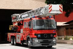 Um carro do salvamento do incêndio Fotografia de Stock