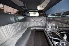 Um carro interior cinzento e preto do limo foto de stock royalty free