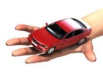 Um carro luxuoso nas palmas Fotografia de Stock Royalty Free