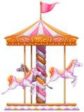 Um carrossel colorido ilustração royalty free